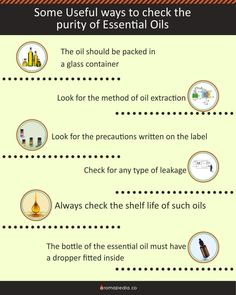 Some Useful ways to check the purity of Essential Oils