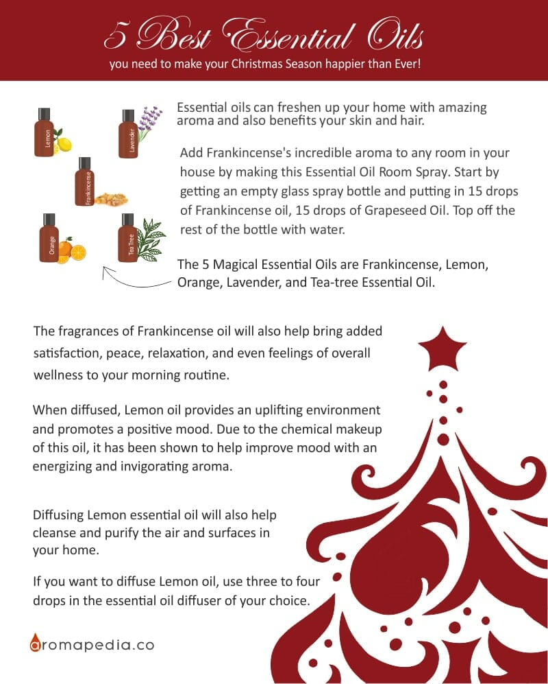 5 Best Essential Oils you need to make this Christmas Season happiest than Ever Infographic-min